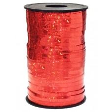 Лента (0,5 см*250 м) Красный, Голография, 1 шт.