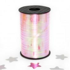 Лента (0,5 см*250 м) Северное сияние, Розовый, Голография, 1 шт.