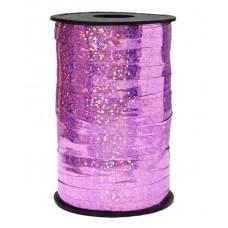 Лента (0,5 см*250 м) Розовый, Голография, 1 шт.