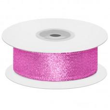 Лента декоративная (1,2 см*22,85 м) Мерцающий блеск, Розовая сирень, Металлик, 1 шт.