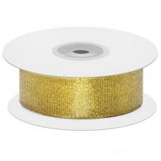 Лента декоративная (1,2 см*22,85 м) Мерцающий блеск, Золото, Металлик, 1 шт.