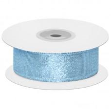 Лента декоративная (1,2 см*22,85 м) Мерцающий блеск, Голубой, Металлик, 1 шт.