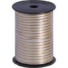 Лента (0,5 см*228,6 м) Золотая полоска, Белый, 1 шт.