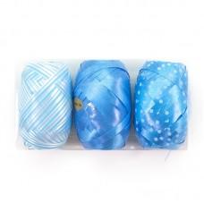 Лента (0,5 см*10 м) Голубой микс, 3 шт.