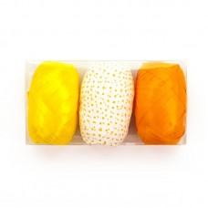 Лента (0,5 см*10 м) Оранжевый микс, 3 шт.