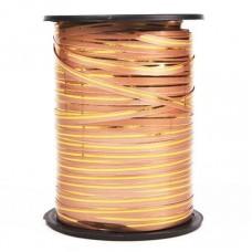 Лента (0,5 см*228,6 м) Золотая полоска, Бронза, 1 шт.