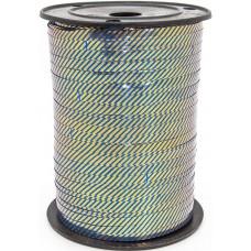 Лента (0,5 см*228,6 м) Диагонали, Синий, Металлик, 1 шт.