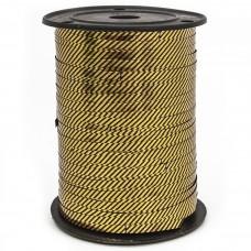 Лента (0,5 см*228,6 м) Диагонали, Черный, Металлик, 1 шт.