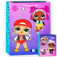 Пакет подарочный, Кукла ЛОЛ (LOL), Модные подружки, 40*33*18 см, 1 шт.