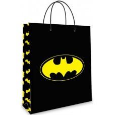 Пакет подарочный, Бэтмен, Черный, 23*18*10 см, 1 шт.