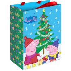 Пакет подарочный, Пеппа и Новый Год, 23*18*10 см, 1 шт.