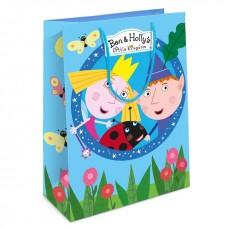 Пакет подарочный, Бен и Холли, Голубой, 35*25*9 см, 1 шт.