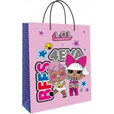 Пакет подарочный, Кукла ЛОЛ (LOL), Роскошная Дива, Розовый, 31*22*10 см, 1 шт.