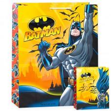Пакет подарочный, Бэтмен и летучие мыши, Желтый, 40*33*15 см, 1 шт.