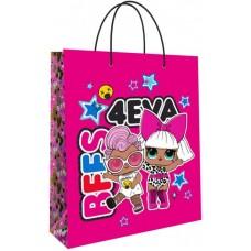 Пакет подарочный, Кукла ЛОЛ (LOL), Модные подружки, Розовый, 23*18*10 см, 1 шт.
