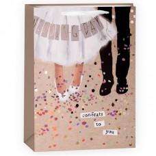 Пакет подарочный, Свадебный танец, 33*22*10 см, 1 шт.