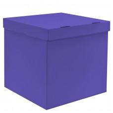 Коробка для воздушных шаров Лиловый, 60*60*60 см, 1 шт.