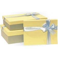Набор коробок Жемчужный бант, Кремовый, 29*19*8 см, 3 шт.