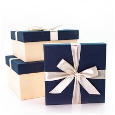 Набор коробок Жемчужный бант, Синий, 21*21*11 см, 3 шт.