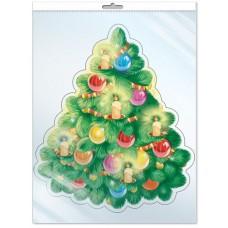 Плакат Новогодняя елочка, 25*23 см, 1 шт.