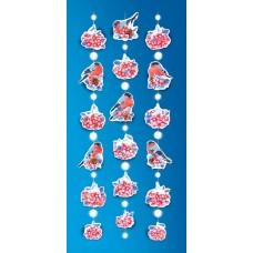 Гирлянда-подвеска Новогодние снегири, 450 см