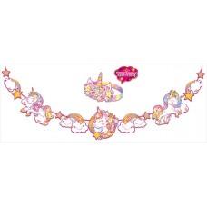 Гирлянда и корона Повелительница единорогов, Розовый, 300 см, 1 шт.