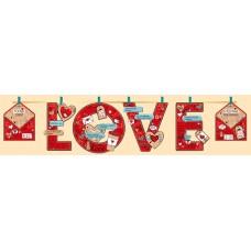 Гирлянда-буквы LOVE (сердечки-валентинки), Красный, 220 см