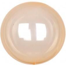 Шар (18''/46 см) Сфера 3D, Deco Bubble, Оранжевый, Кристалл, 10 шт.
