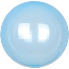 Шар (18''/46 см) Сфера 3D, Deco Bubble, Голубой, Кристалл, 10 шт.