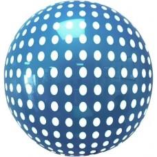 Шар (18''/46 см) Сфера 3D, Deco Bubble, Белые точки, Синий, 1 шт. в упак.