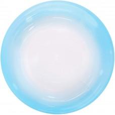 Шар (18''/46 см) Сфера 3D, Deco Bubble, Голубой спектр, Прозрачный, Кристалл, 1 шт. в упак.