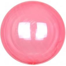Шар (18''/46 см) Сфера 3D, Deco Bubble, Красный, Кристалл, 10 шт.