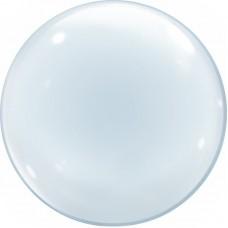 Шар (18''/46 см) Сфера 3D, Deco Bubble, Прозрачный, 50 шт.