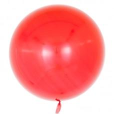 Шар (18''/46 см) Сфера 3D, Deco Bubble, Красный, Глянец, 10 шт.