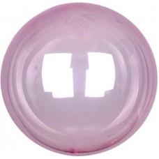 Шар (18''/46 см) Сфера 3D, Deco Bubble, Розовый, Кристалл, 10 шт.