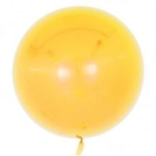 Шар (18''/46 см) Сфера 3D, Deco Bubble, Желтый, Глянец, 10 шт.