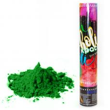 Пневмохлопушка (12/30 см), Краска Холи, Зеленый, 1 шт.