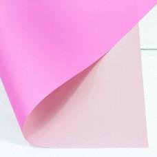 Упаковочная матовая пленка (0,4*0,45 м) Розовый/Ярко-розовый, 20 шт.
