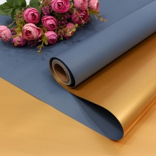 Упаковочная пленка (0,58*10 м) Маренго/Золото, Металлик, 1 шт.