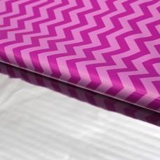 Упаковочная матовая пленка (0,7*1 м) Зигзаги, Розовый, 50 шт.