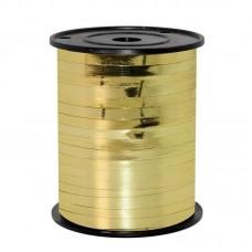 Лента (0,5 см*250 м) Желтое золото (362), Металлик, 1 шт.