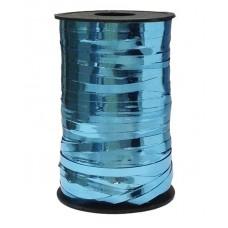Лента (0,5 см*250 м) Голубой, Металлик, 1 шт.