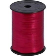Лента (0,5 см*228,6 м) Рубиново-красный, Металлик, 1 шт.