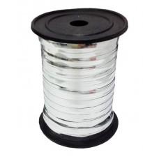 Лента (0,5 см*228,6 м) Серебро, Металлик, 1 шт.