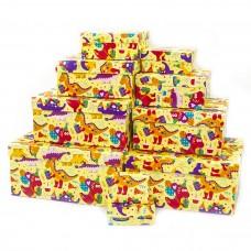 Набор коробок Динозаврики, Яркий праздник, 24*22*11 см, 10 шт.