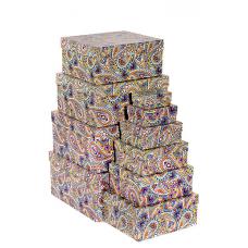 Набор коробок, Персидский узор, 24*22*11 см, 10 шт.