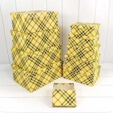 Набор коробок, Клетки Барбери, Желтый, 34*26*15 см, 10 шт.