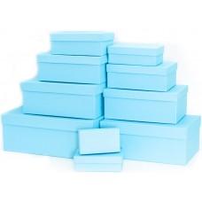 Набор коробок Голубая бирюза, 30*20*13 см, 10 шт.