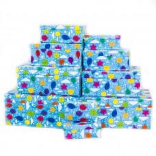 Набор коробок Воздушные шарики, Голубой, 30*20*13 см, 10 шт.