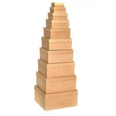 Набор коробок, Крафт, 24*22*11 см, 10 шт.